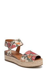 Franco Sarto By Oak Platform Wedge Espadrille Blossom Printed Leather