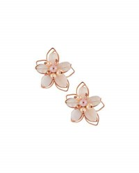 Nakamol Beaded Flower Stud Earrings Pink