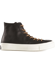 Converse Thick Soled Lace Up Sneakers Black