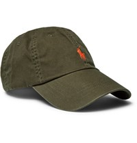 Polo Ralph Lauren Embroidered Cotton Twill Baseball Cap Army Green