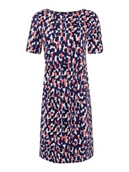 Joules Stretch Pleast Dress Multi Coloured Multi Coloured