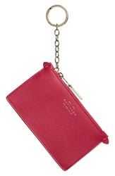 Smythson Women's Calfskin Leather Zip Pouch With Key Ring