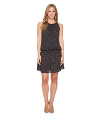 Dylan By True Grit Modern Dot Soft Rayon Tank Dress With Lining Black