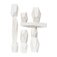 Areaware Balancing Blocks Set White