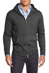 Nordstrom Full Zip Cotton And Cashmere Hoodie Gray