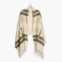 Madewell Cape Scarf In Valeria Stripe Antique Cream