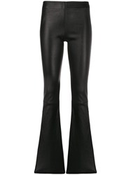 Drome High Waisted Flared Trousers Black