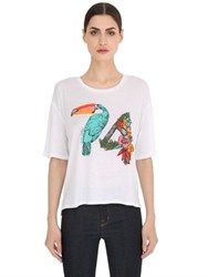 Juicy Couture Toucan Printed Jersey T Shirt