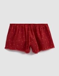 Laura Urbinati Stretch Crepe De Chine Pois Shorts In Ruby Fuchsia Ruby Fuchsia