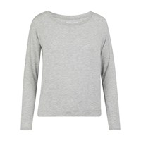 Majestic Long Sleeved Top Gris Chine Clair
