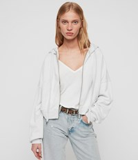 Allsaints Quince Hoodie Ivory White