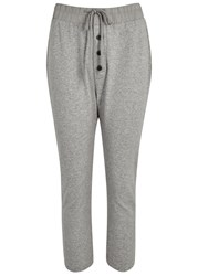 James Perse Light Grey Cropped Jogging Trousers