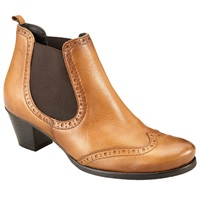 John Lewis Quentin Chelsea Leather Ankle Boots Tan