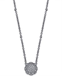 Macy's Diamond Vintage Milgrain Pendant 3 8 Ct. T.W. In 14K White Gold