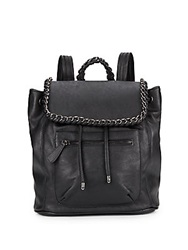 Kensie Chain Trimmed Faux Leather Backpack