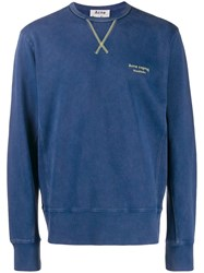 Acne Studios Embroidered Logo Sweatshirt Blue