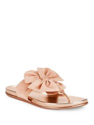 Kenneth Cole Reaction Slim Gal Bow Thong Sandals Rose