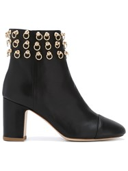 Polly Plume Embellished Ankle Boots Women Calf Leather Leather 37 Black