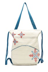 Star Mela Embroidered Cotton Tote