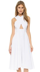 Kendall Kylie Cross Front Dress White