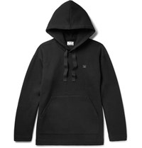 Acne Studios Florida Oversized Fleece Back Cotton Blend Jersey Hoodie Black