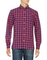 Baffin Large Gingham Cotton Sportshirt Red