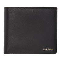 Paul Smith Black Mini Stripe Print Wallet