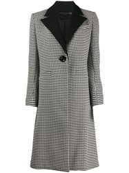 Alice Olivia Houndstooth Single Breasted Coat 60