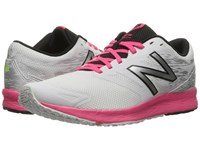 New Balance Flash Rn White Alpha Pink Black Women's Running Shoes Gray