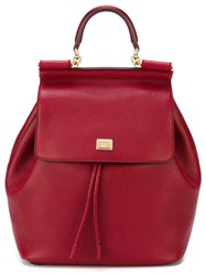 Dolce And Gabbana 'Sicily' Backpack Red