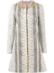 Giambattista Valli Embroidered Tweed Coat Multicolour