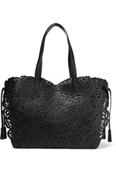 Sophia Webster Liara Laser Cut Leather Tote Black