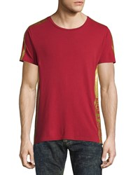 Robin's Jean Gold Striped Short Sleeve Tee Red Men's