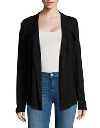 Ivanka Trump Textured Flyaway Cardigan Black