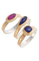 Women's Anna Beck Precious Stone Stackable Rings Set Of 3