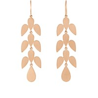 Irene Neuwirth Women's Leaf Motif Drop Earrings No Color