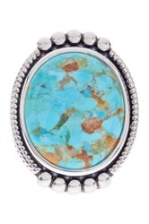 Savvy Cie Oval Cabochon Turquoise Ring Blue