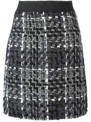 Dolce And Gabbana Mini Flounce Skirt Black