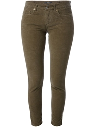 Woolrich Cropped Skinny Trousers Green