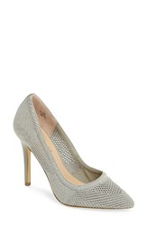Charles By Charles David Women's Pacey Knit Pump Stone Grey Stretch Knit Fabric