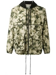 Emiliano Rinaldi Camouflage Hooded Jacket Men Cotton Polyurethane 52 Green