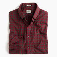 J.Crew Slim Secret Wash Shirt In Red Gingham Heather Poplin Hthr Gravel Red