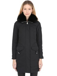 Peuterey Felicity Taffeta Down Coat W Fox Fur