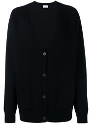 Dries Van Noten Oversized Cardigan Blue