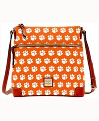 Dooney And Bourke Clemson Tigers Crossbody Purse Orange