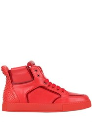 Royaums Handmade Leather High Top Sneakers