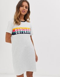 Superdry Carnival Logo Ringer Dress Grey
