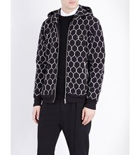 Undercover Fence Print Cotton Jersey Hoody Black
