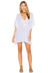 Seafolly Crochet Trim Caftan White