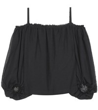 Vika Gazinskaya Cotton Blouse Black